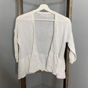 Lauren Conrad 3/4 Sleeve White Sweater